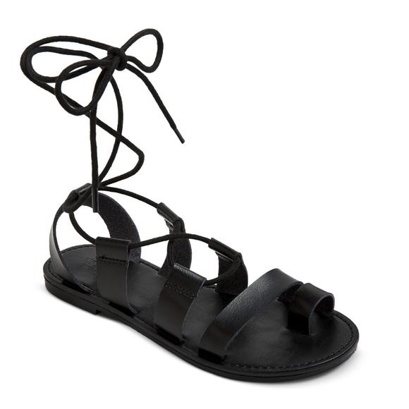 792f12e60f0 Mossimo Lilac Gladiator Sandals Black New